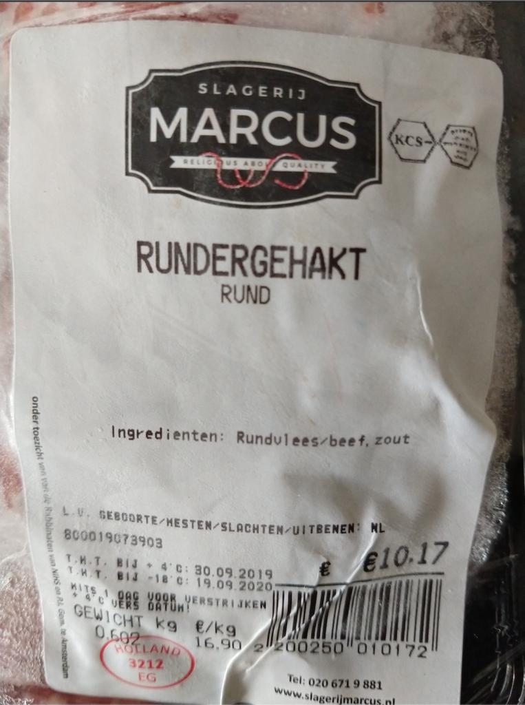 Certification boucherie Marcus, à Amsterdam