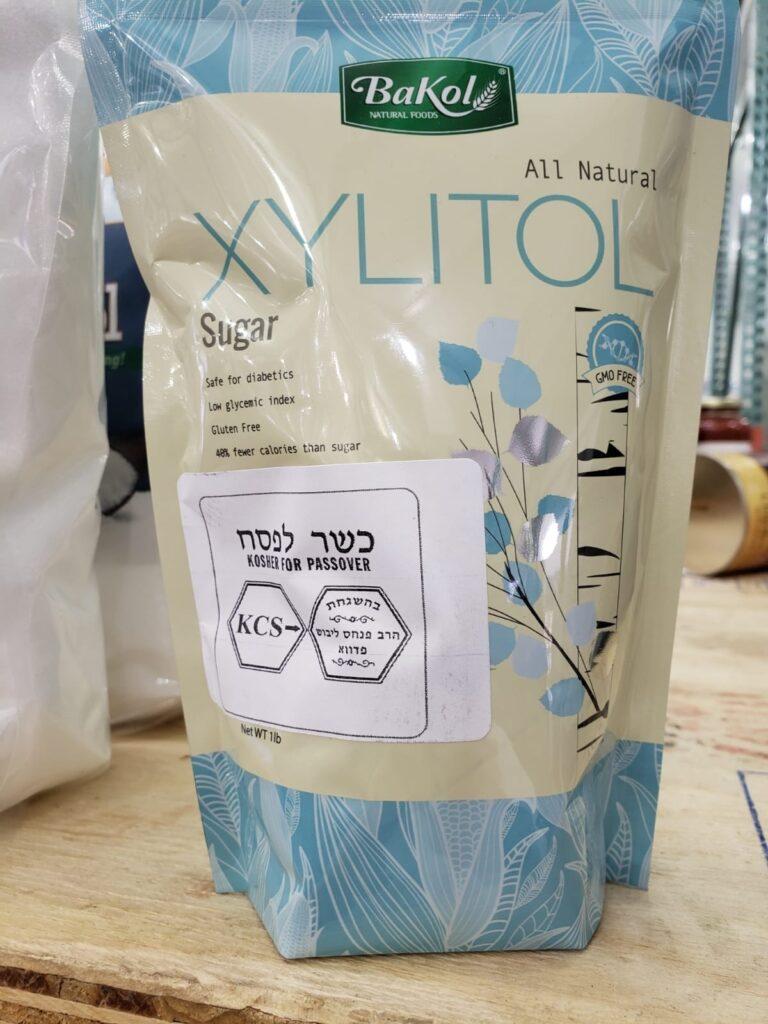 Xylitol, certifié pour Pessah